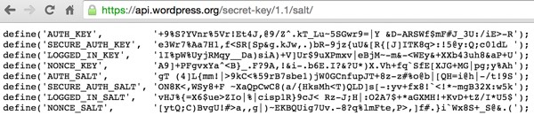 WordPress Authentication Key and Salt Generator