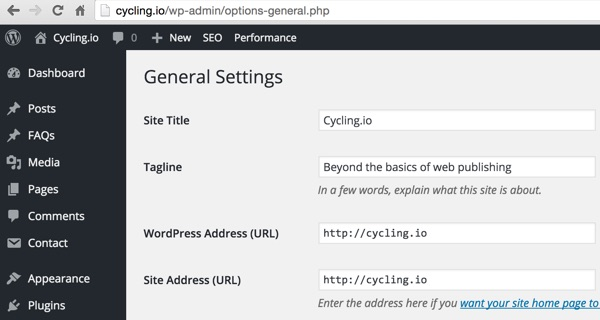 Clone WordPress General Domain Settings