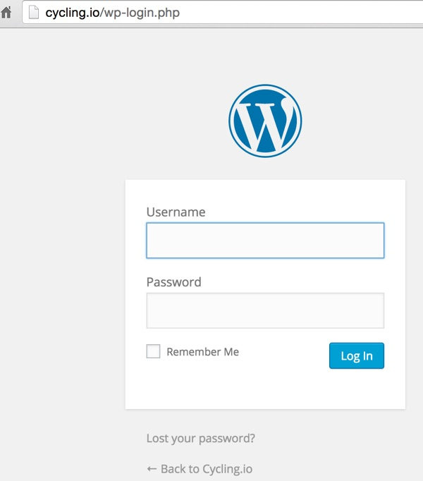 Clone WordPress Use the wp-login php path