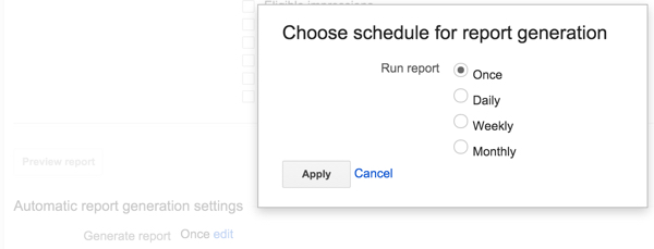 Google DFP Report Recurrence and Scheduling