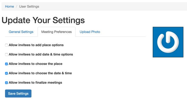 Customizing Meeting View - User settings with meeting preferences