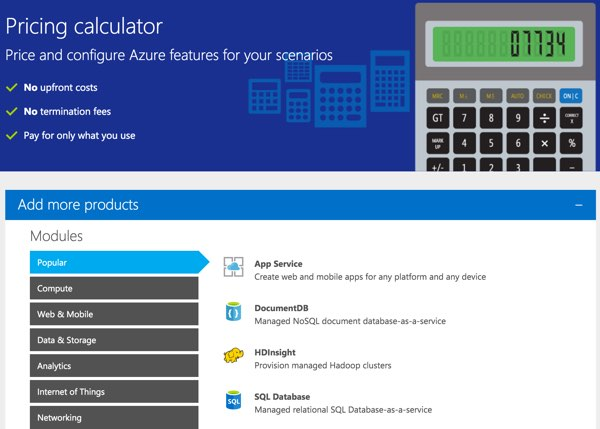 Amazon AWS Alternatives - Azure Pricing Calculator