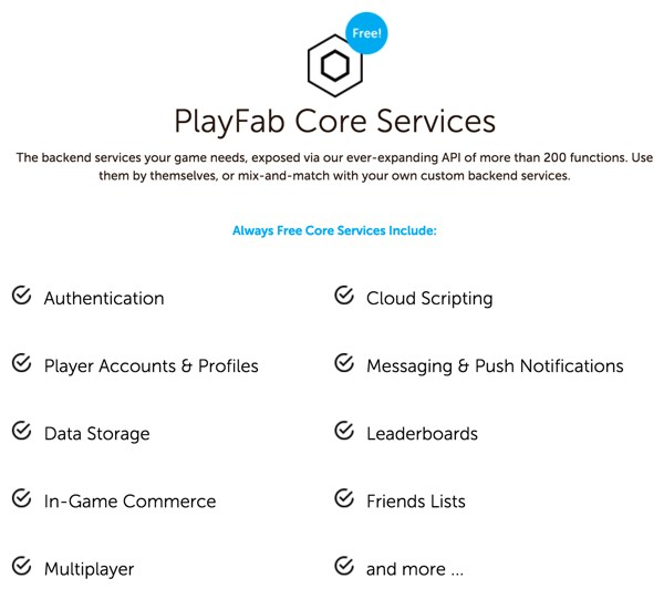 Amazon AWS Alternatives - PlayFab