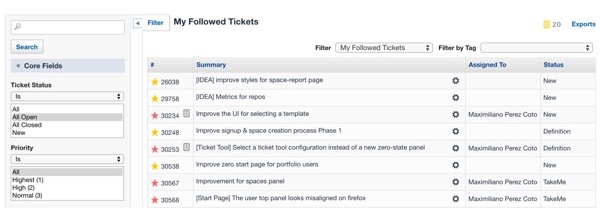 Assembla Ticket with Example List