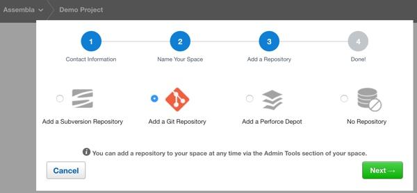 Assembla Add a Code Repository