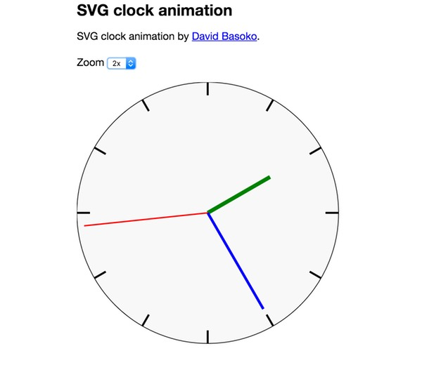 What is HTML5 SVG Animated Clock Demo