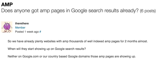 AMP for WordPress - WordPress Codex Users Not Seeing Posts in Search Results