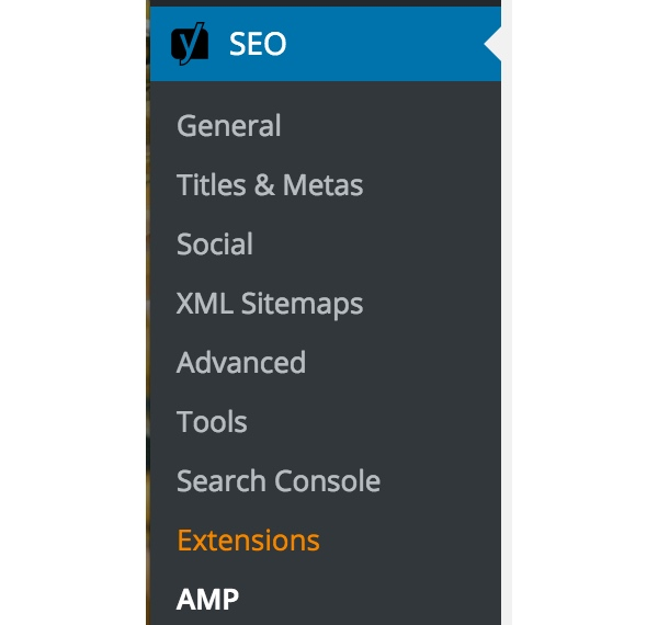 AMP for WordPress - Glue for Yoast SEO  AMP Menu