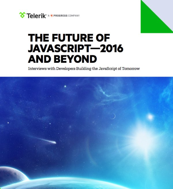 JavaScript 2016 - Cover Page of The Future of JavaScript White Paper