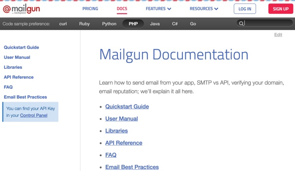 Mailgun Plugin - Mailgun Documentation and Great Language Support