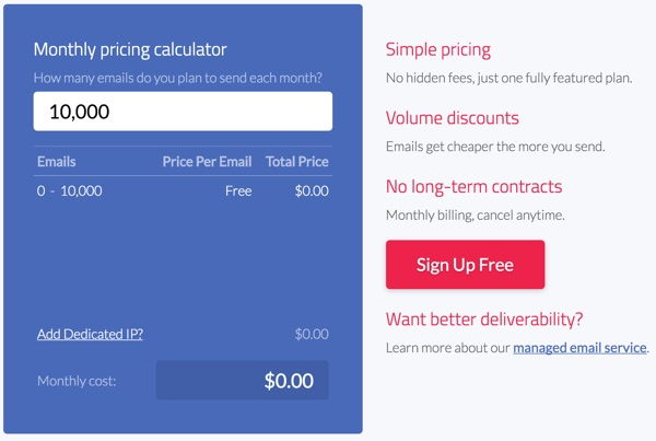 Exploring Mailgun - Pricing Calculator
