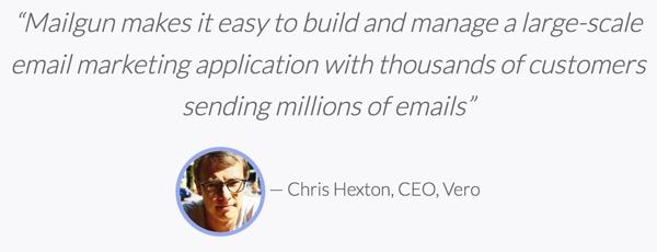 Exploring Mailgun - Chris Hexton CEO Vero Testimony