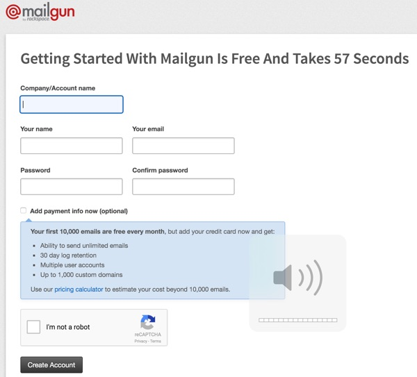 Exploring Mailgun - Sign Up Form
