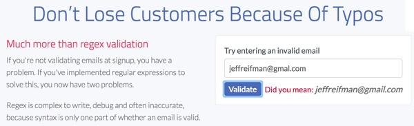 Exploring Mailgun - Email Validation JQuery Plugin Example