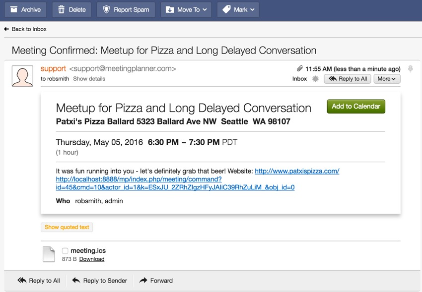 Building Your Startup - Example Invite File in Webmail