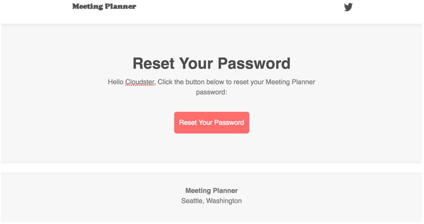Meeting Planner Inlining - Completed Reset Your Password Email