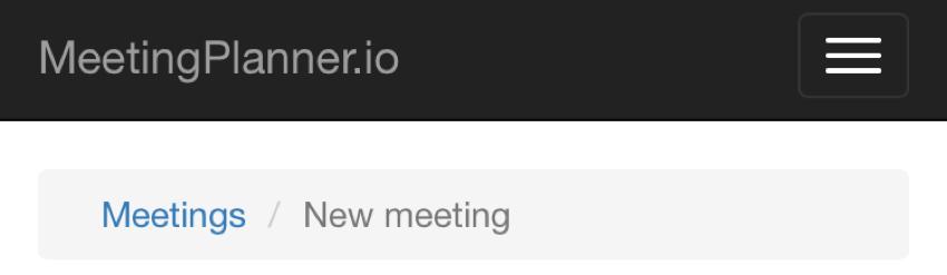 Meeting Planner Responsive Web - Responsive Breadcrumbs