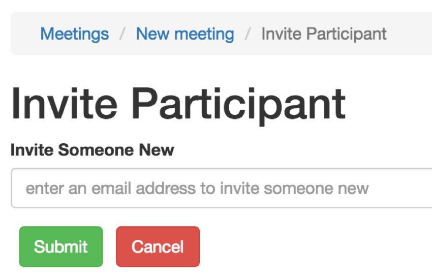 Meeting Planner Responsive Web - Enhanced Button Spacing