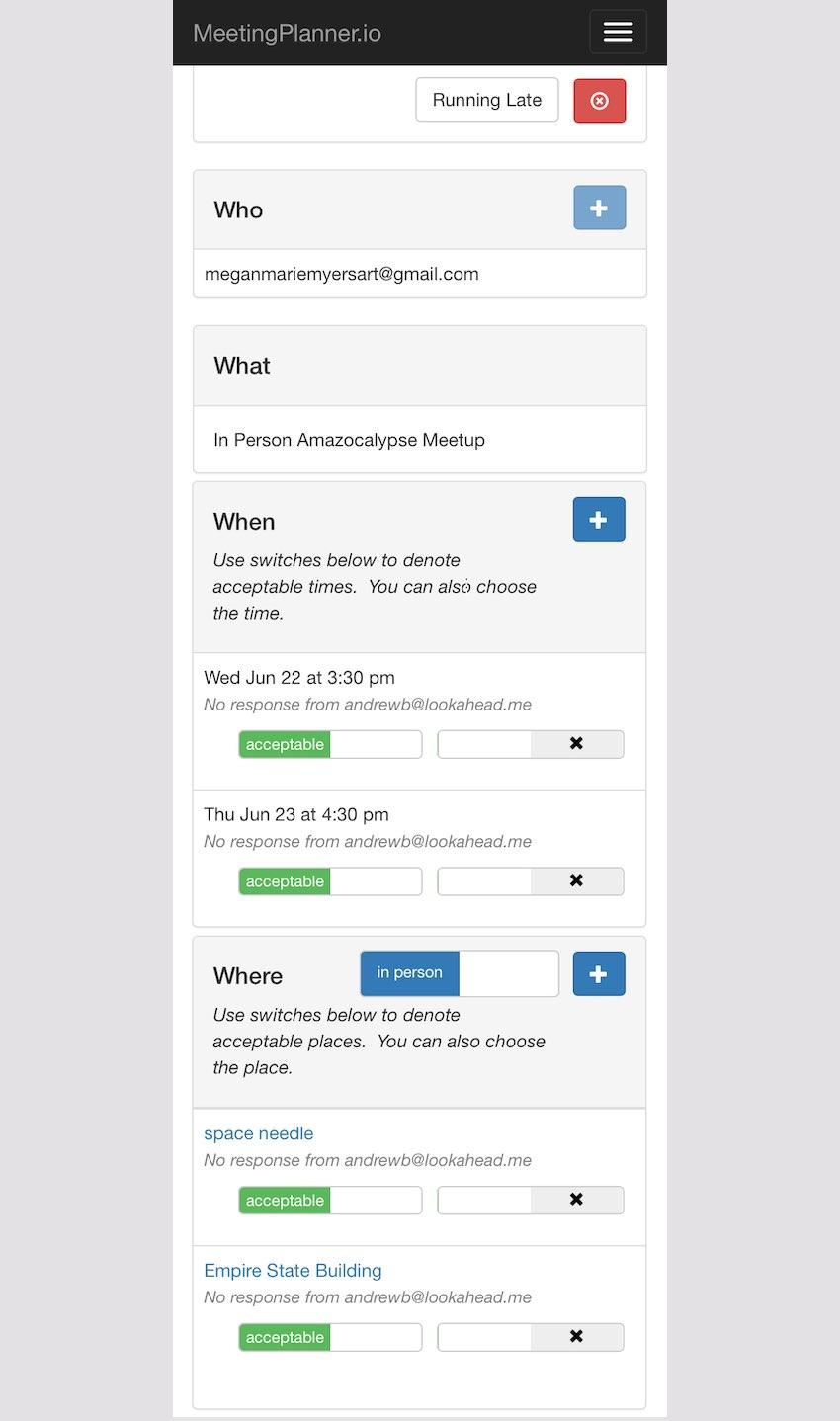 Meeting Planner Responsive Web - Final Responsive Meeting Planning Form