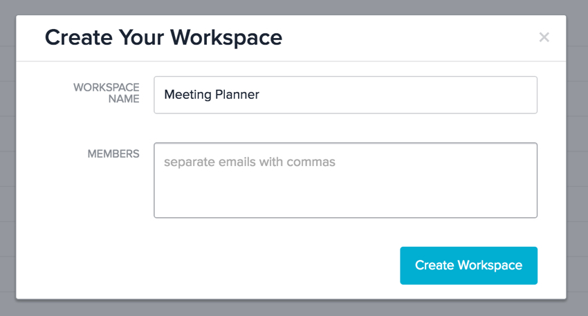 Meeting Planner Asana - Create Your Workspace