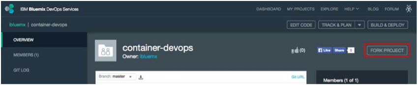 IBM BlueMix and DevOps - container-devops project
