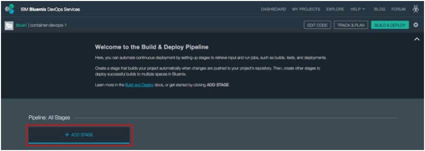 IBM BlueMix and DevOps - Build and Deploy Pipeline start