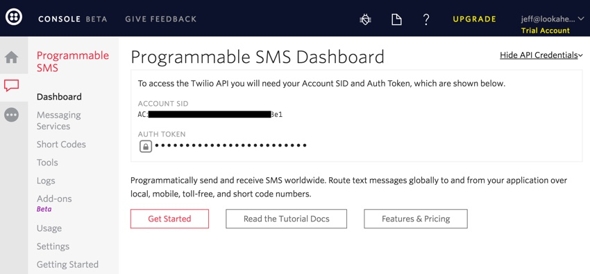 Building Startups Text and SMS - Twilio SMS Dashboard