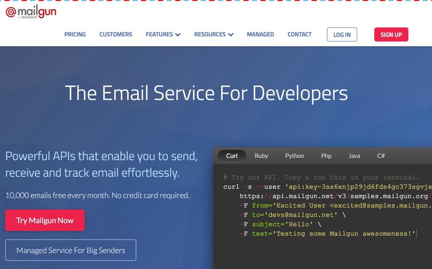 New Mailgun Reporting Dashboard - Mailgun Home Page