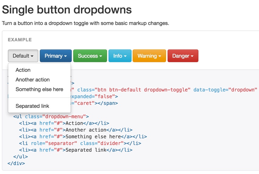 Build Your Startup Advanced Scheduling - Bootstrap Documentation of Dropdown
