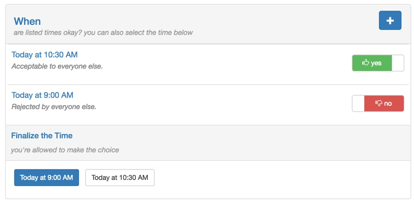 Building Your Startup - Finalize the Time via Buttons instead of Choose Switches