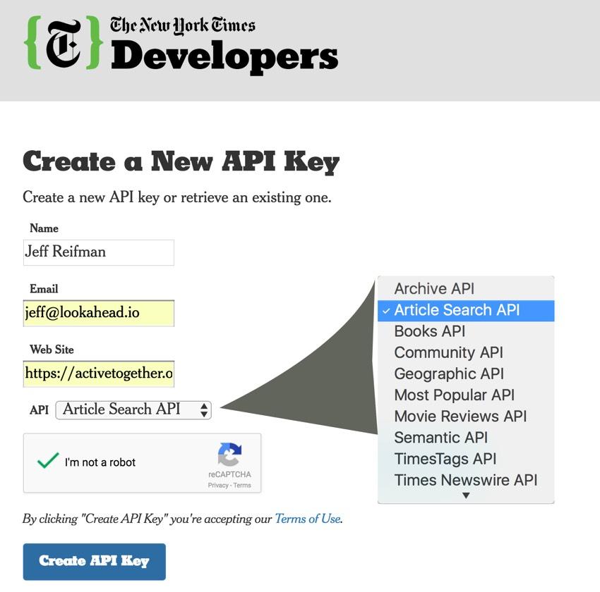 Using the new york times api to scrape metadata - Api up ...
