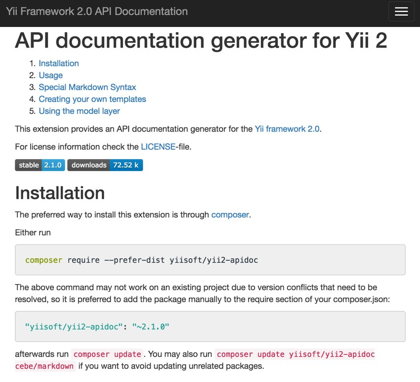 Programming With Yii: Generating Documentation
