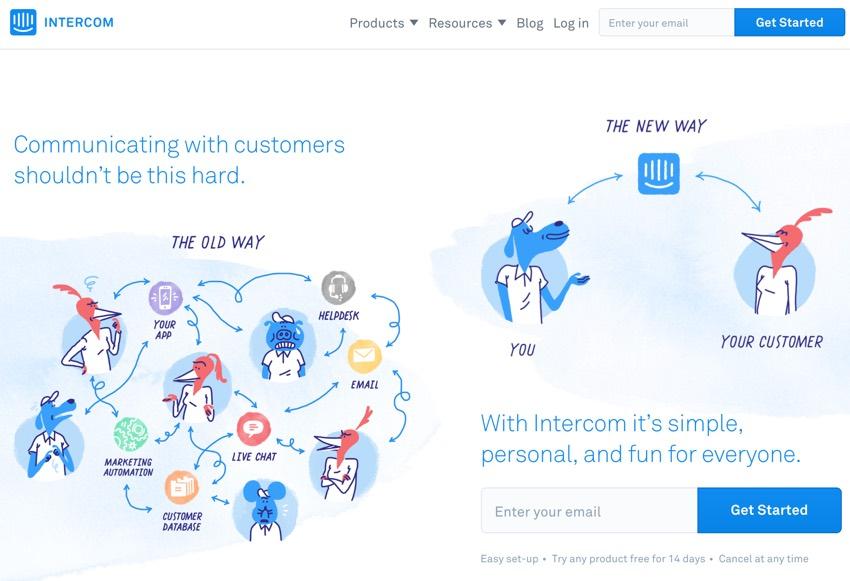 Assembla Zapier Automated Workflow - Intercom Home Page