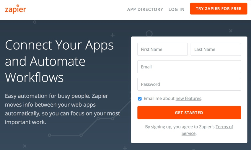 Assembla Zapier Automated Workflow - Zapier Home Page