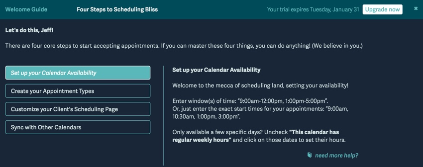 Acuity Scheduling Developers - Set up your Calendar Availability