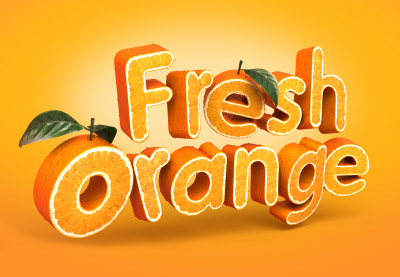 Preview for Create a 3D, Fruit-Textured, Text Effect