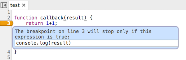Add conditional breakpoint