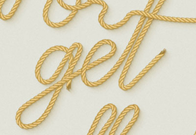QnA VBage Use a Pattern Rope Brush to Create a Rope Text Effect in Illustrator