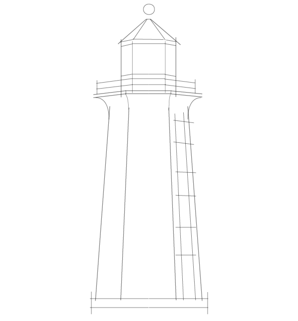 Line Drawing Lighthouse : Create a nautical sketch style in adobe illustrator