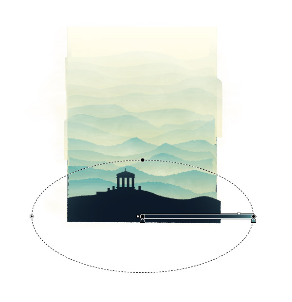 Crea la escena de una colina usando gradientes en Adobe Illustrator