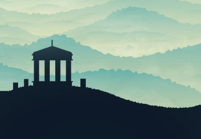 Preview for Create a Hill Scene Using Gradients in Adobe Illustrator