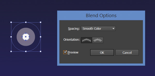 create a star from two blends