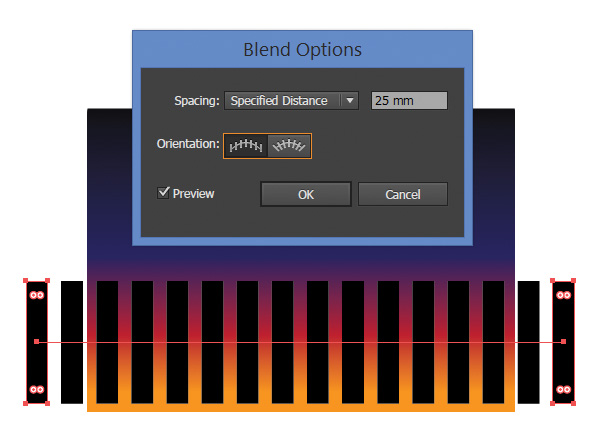 change the Blend Options