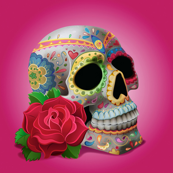 Miss ChatZs Decorated Skull