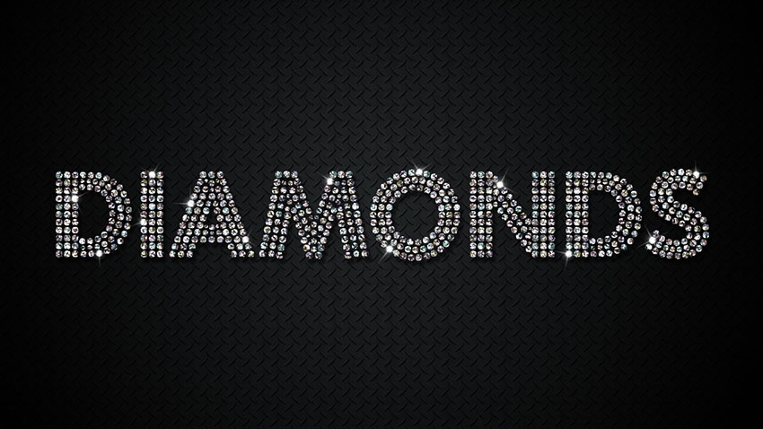 Diamond text effect