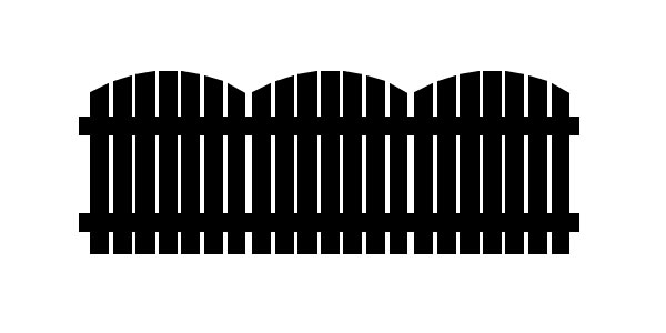 Finished fence vector illustration using the Pen Tool
