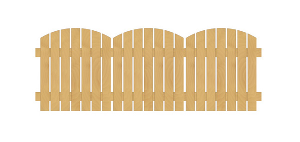 Stock image of a fence