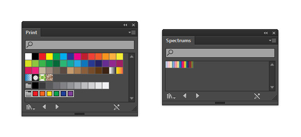 The Print and Spectrums Swatch library