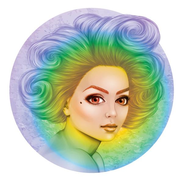 Pride rainbow illustration