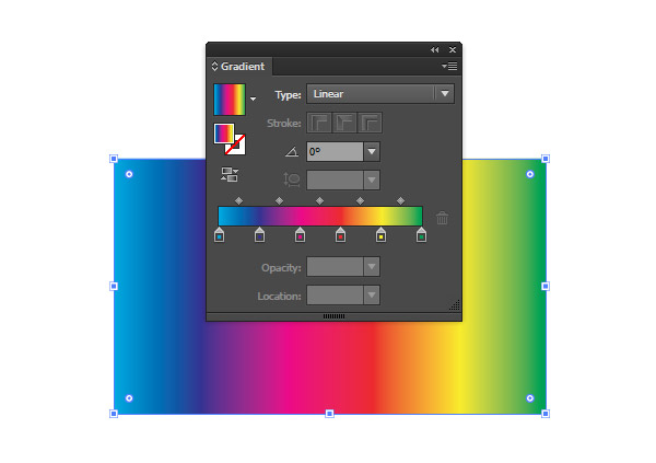 Filling a rectangle with a spectrum gradient